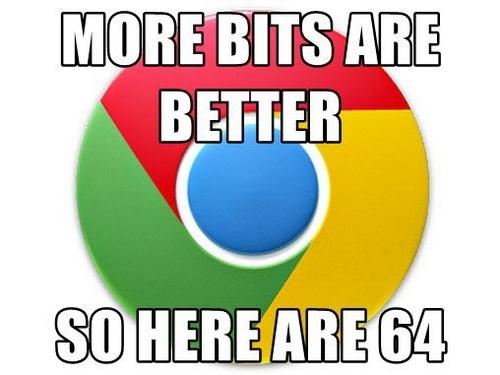 В данном случае 64 бита действительно лучше!