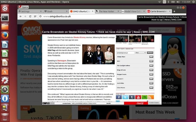 Opera 25 для Linux