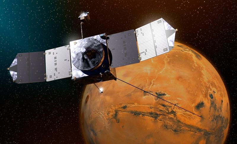 Космический аппарат MAVEN вышел на марсианскую орбиту