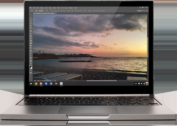 Photoshop Streaming on Chrome OS