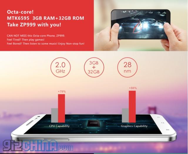 Zopo ZP999: мощный смартфон за $420 с сапфировым дисплеем Full HD