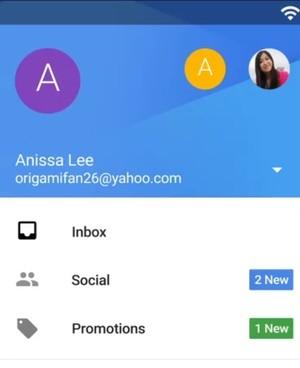 Кадр из ролика о новой версии Gmail для Андроид
