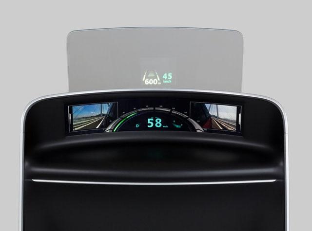 Изогнутый дисплей высокого разрешения для замены приборной панели автомобиля. Источник Nikkei Electronics.