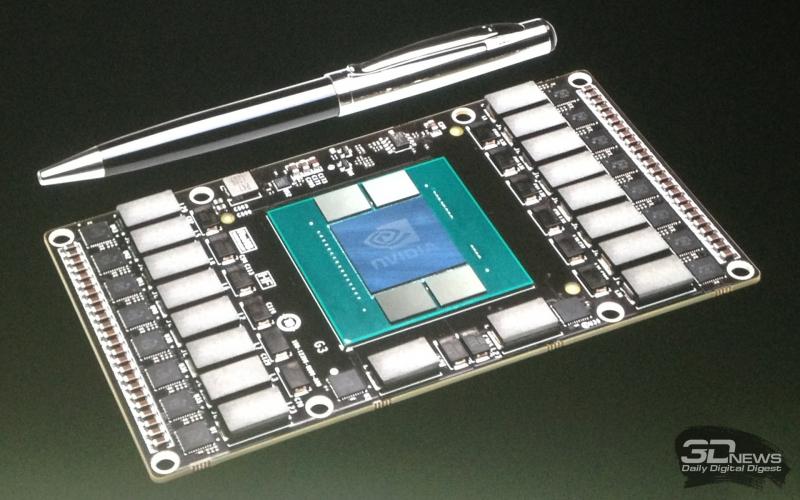 Образец процессорного модуля на основе GPU c архитектурой Pascal с двухслойной памятью
