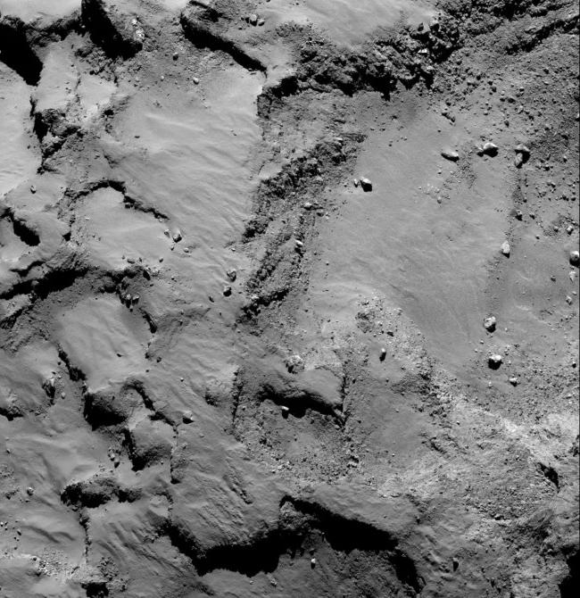 Зона посадки зонда (снимок сделан с расстояния в 67 км)