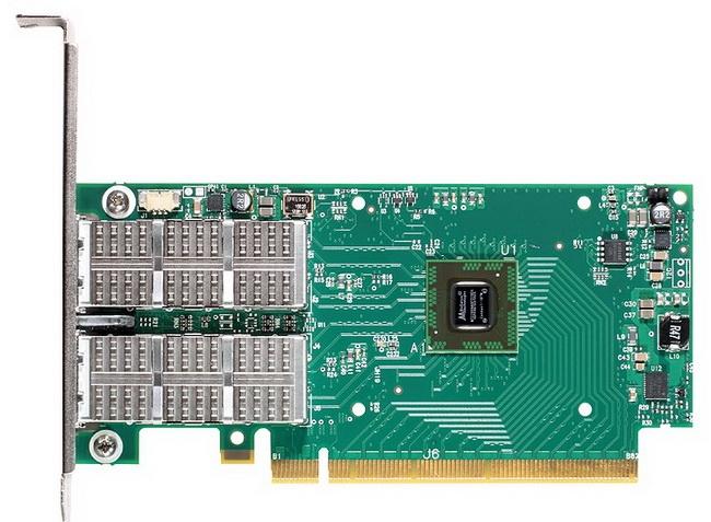 Пример 100-гигабитного адаптера InfiniBand