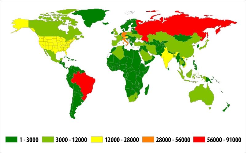 География атак банковского вредного ПО, 3-й квартал 2014 года