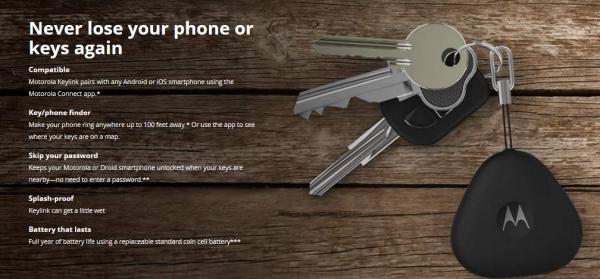 "Брелок Motorola Keylink поможет найти потерявшийся смартфон или ключи"""