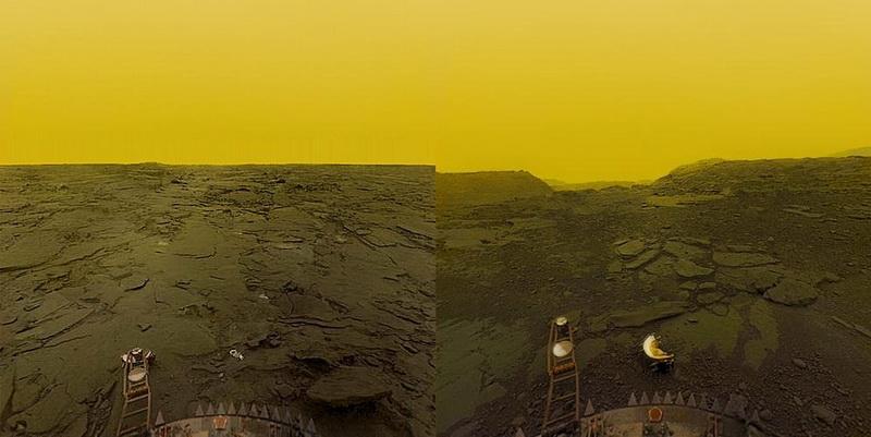 Снимок поверхности, полученный автоматической станцией Венера-13
