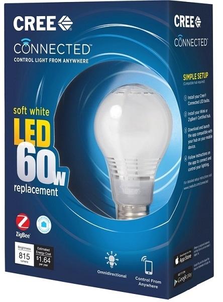 Connected Cree LED Bulb: смарт-лампочка с поддержкой Wink и ZigBee