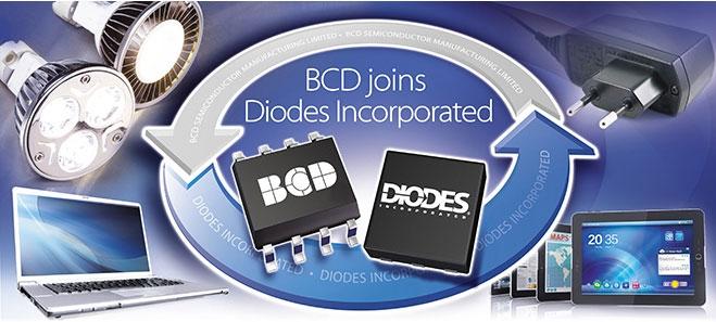 Пример использования силовых и аналоговых полупроводников (источник Diodes Incorporated)