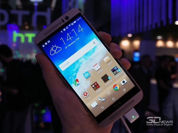 HTC One M9: кстати, из названия модели исчезли скобочки