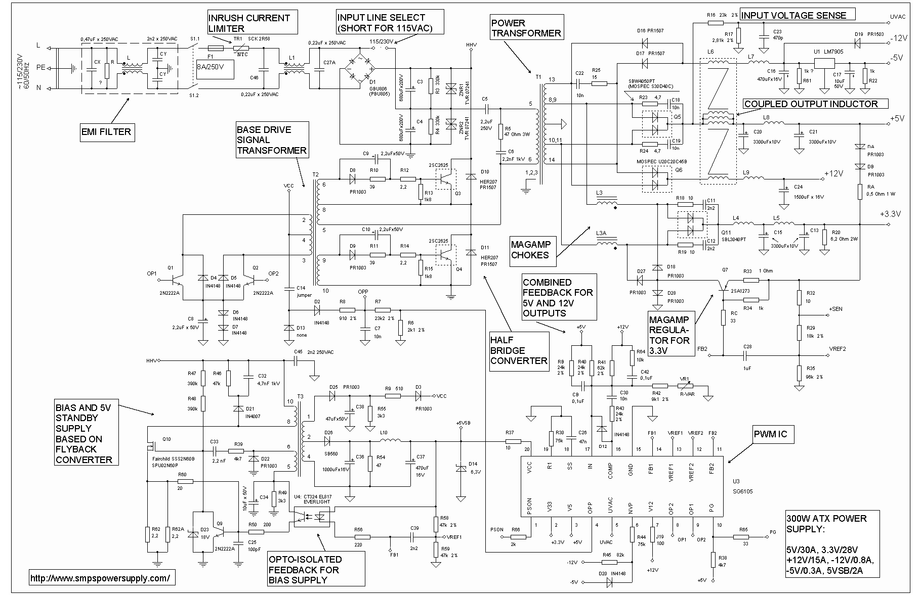 Dell 24 Pin Power Supply Wiring Diagram Not Lossing Laptop Schematic Atx Switching Bestec 250 12z Compaq