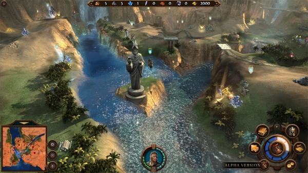 Еще один пример интерактивности: мы можем обрушить статую, чтобы пересечь по ней реку и не встречаться со слишком сильным противником на мосту