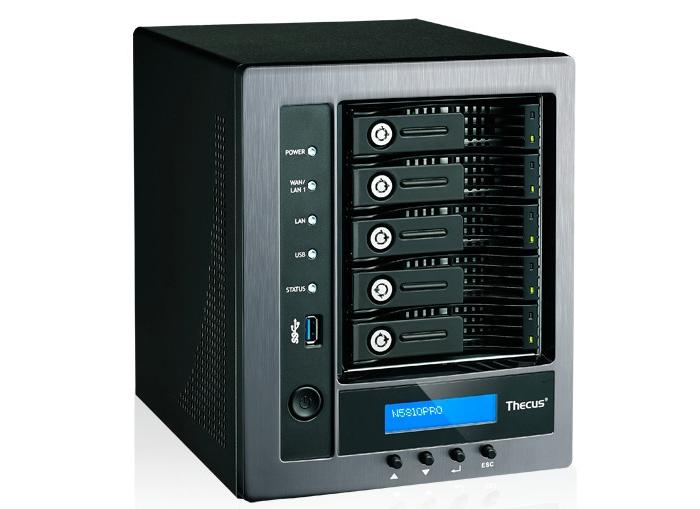 Thecus N5810PRO: сетевое хранилище со встроенным мини-ИБП