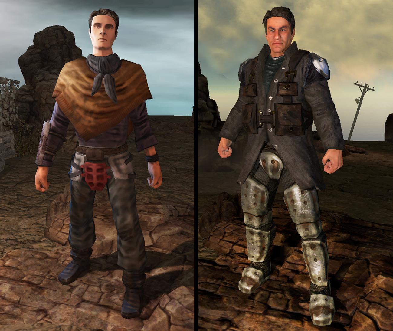 Разница между персонажами в подлиннике и обновлённой версии