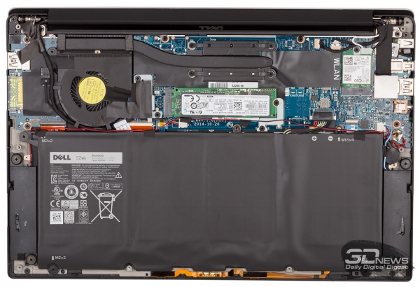 The battery occupies most of the internal space of the ultrabook. &quot;Height =&quot; 410 &quot;width =&quot; 600 &quot;/&gt; </a></p> <div class=