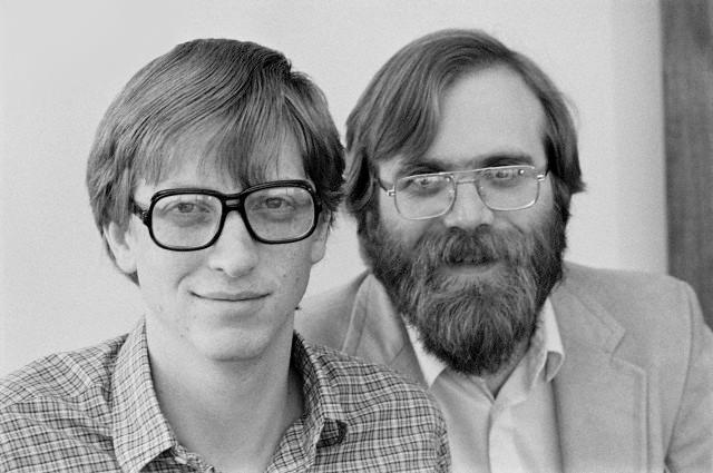 Билл Гейтс и Пол Аллен в 1983 году (фото Doug Wilson/Corbis)