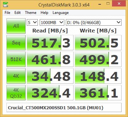 Crucial MX200 500 Гбайт