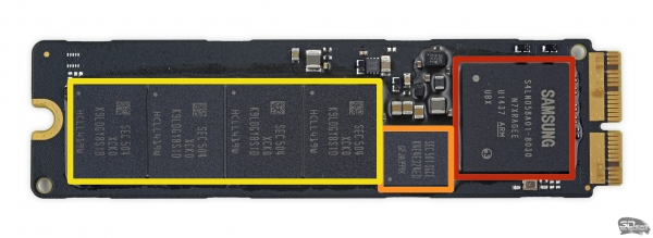 SSD производства Samsung с интерфейсом PCIe x4