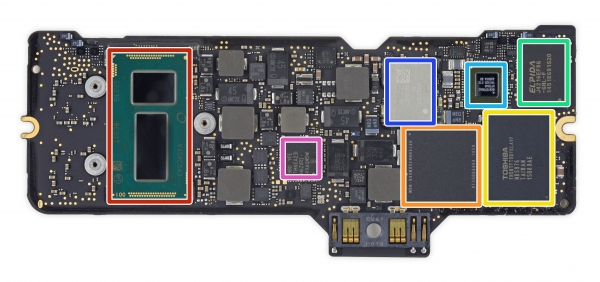 The motherboard Apple MacBook 12 &quot;height =&quot; 282 &quot;width =&quot; 600 &quot;/&gt; </a></p> <div class=