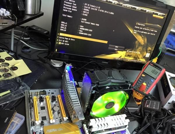 Intel Core i7-5775C (Broadwell) разогнан до 5 ГГц с воздушным охлаждением