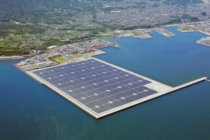 Kyocera создала самую большую в мире солнечную электростанцию на воде