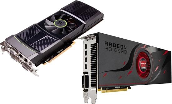 Графические карты AMD Radeon и Nvidiа GeForce