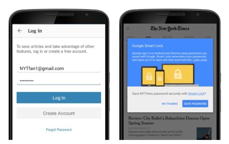 Консультант паролей Google Смарт Lock