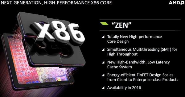 AMD Zen: Принципиально новая микроархитектура