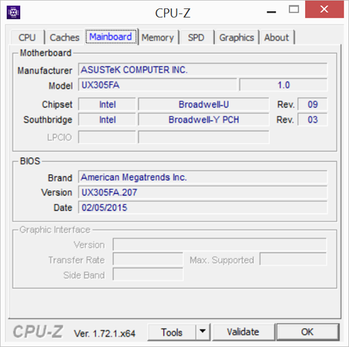 Информация о процессоре и наборе микросхем