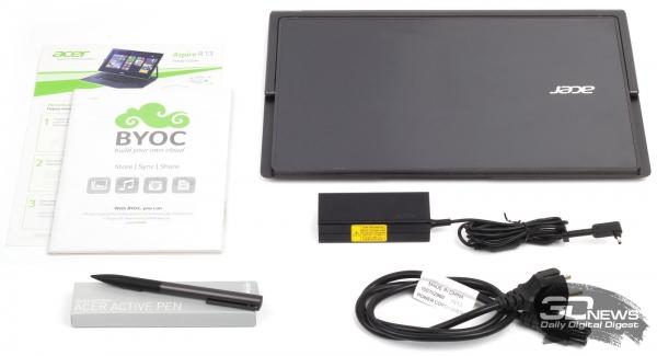Комплект поставки Acer Aspire R13