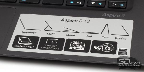 Варианты работы с Acer Aspire R13 от производителя
