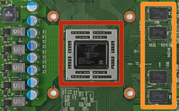Система на чипе Microsoft Xbox One. Фото с сайта iFixit