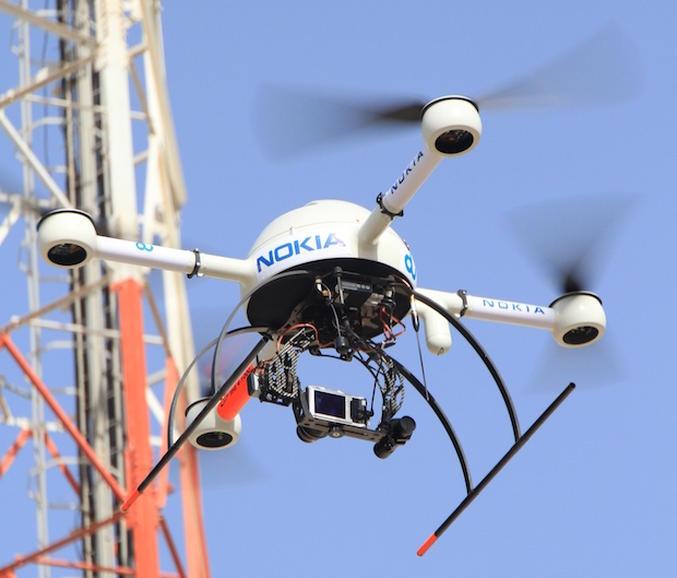 Nokia протестировала дроны для инспекции сотовых вышек