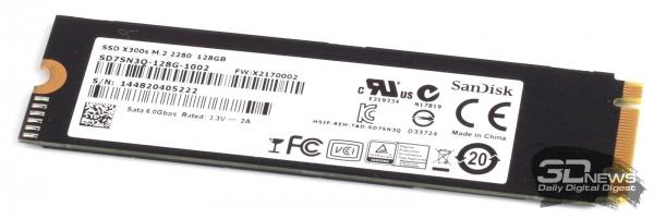 The SSD SanDisk Corporation module SD7SN3Q-128G-1002 &quot;height =&quot; 201 &quot;width =&quot; 600 &quot;/&gt; </a></p> <div class=
