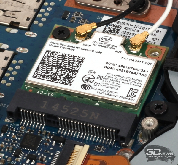 Модуль беспроводной связи Intel Dual Band Wireless-AC 7260