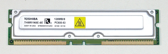 Модуль памяти RDRAM, производства Toshiba