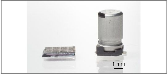 Конденсатор на нанотрубуках в 1000 раз компактнее аналогичного по ёмкости электролитического конденсатора