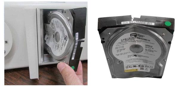Разрушения HDD в американской версии устройства
