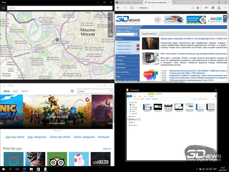 Крупным планом: 25 отличительных особенностей Windows 10
