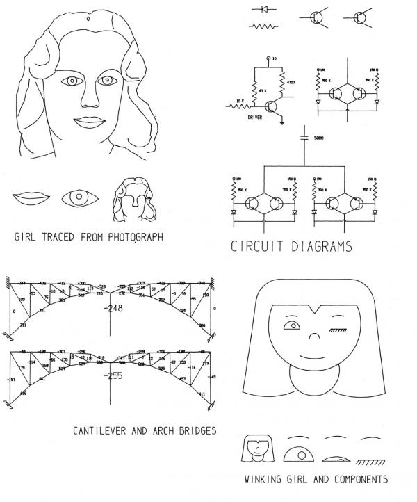 Примеры работ, выполненных с помощью Sketchpad, из официального руководства к данной системе