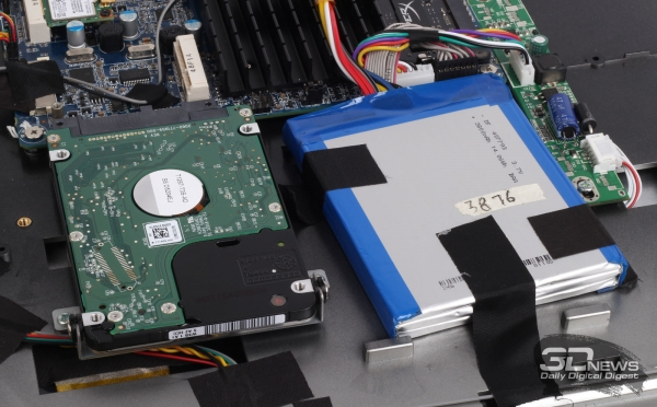 Mounting the hard drive and battery &quot;height =&quot; 372 &quot;width =&quot; 600 &quot;/&gt; </a></p> <div class=