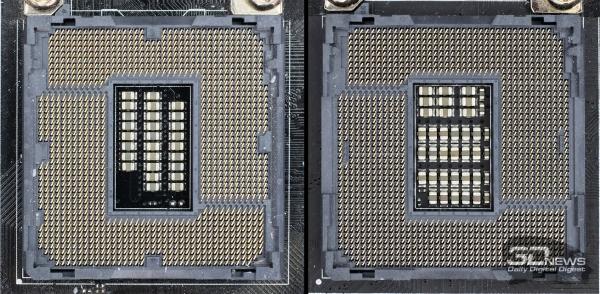 Слева – LGA 1150; справа – LGA 1151