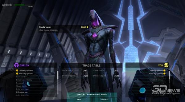 Master of Orion предлагает богатые дипломатические возможности