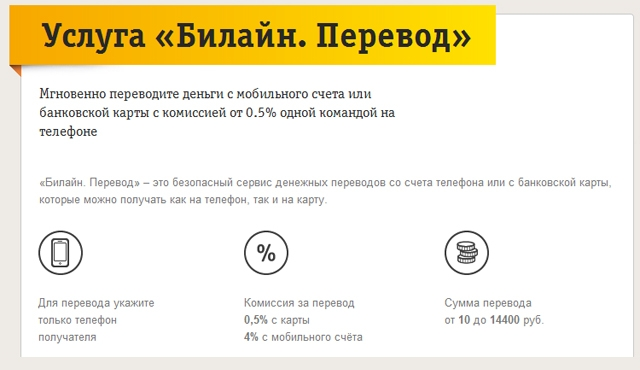 """«Билайн» запустил сервис денежных переводов с помощью мобильного телефона"""""""