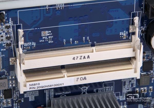 Разъёмы SO-DIMM DDR3 SDRAM на системной плате