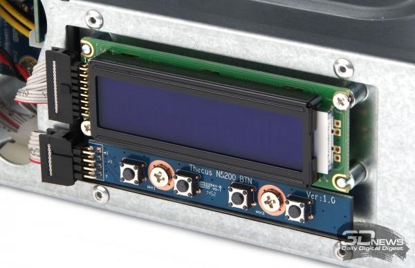 Блок с LCM-дисплеем и кнопками управления