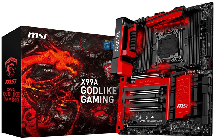MSI X99A Godlike Gaming - одна из исходных плат, участвующих в акции