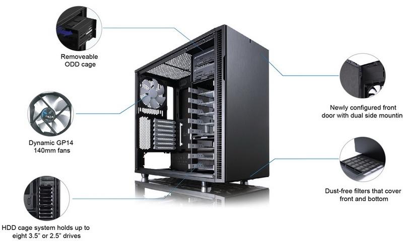 Каркас Fractal Design Define R5 владеет хорошим комплектом перспектив